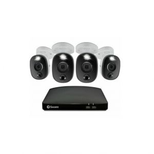 CCTV Systems: Swann DVR 8 5680 8 Channel DVR 4 x PRO-4KWLB Spotlight Heat Motion Siren Cameras CCTV Kit