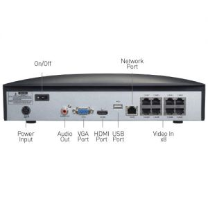 CCTV Systems: Swann NVR 8780 8 Channel 4K CCTV Security System 2TB HDD 4 x NHD-875WLB Thermal Cameras