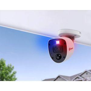 CCTV Cameras: Swann PRO-4KRLPK2 4K Enforcer Bullet CCTV Camera Flashing Lights & Siren for DVR 5680 - TWIN PACK