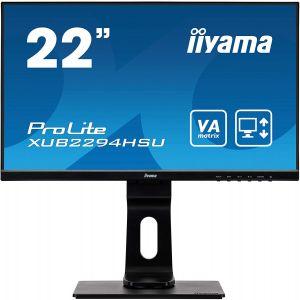 Monitors: IIYAMA ProLite XUB2294HSU-B1 22 inch Full HD Flat screen LCD Monitor With speakers - Black