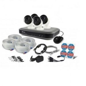 Swann SWDVK 4780 DVR 8 Channel 2TB HDD 3MP CCTV PRO- 3MPMSB x4 Camera Kit