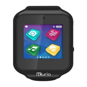 Gadgets & Gifts: KURIO Kids Smart Watch Bluetooth Camera Speaker Mic Text Call Audio Video Games - Black