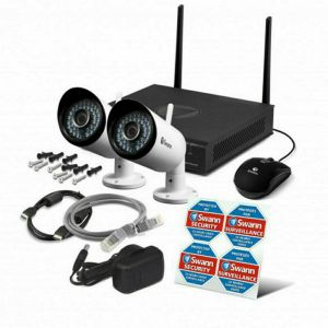 Swann NVW-485 4 Channel 1TB Wi-Fi HD 1080P CCTV Wireless With Audio 2x Camera Kit