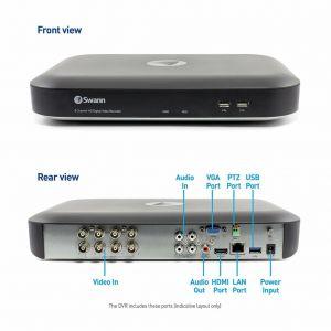 CCTV Systems: Swann SWDVK 4980 Heat-Sensing 8 Channel 2TB 5MP CCTV PRO-5MPMSB DVR
