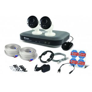 Swann SWDVK DVR 4980 Heat-Sensing 4 Channel 1TB 5MP CCTV PRO-5MPMSB x2 Came...
