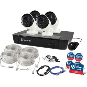 CCTV Systems: Swann NVR 7450 5MP 8 Channel CCTV Security System 2TB HDD HDMI NHD-855 x4 Camera Kit
