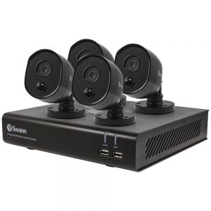 CCTV Systems: Swann DVR 4580 4 Channel 1TB DVR HD Heat Sensing Motion PIR 4 Black Cameras CCTV Kit